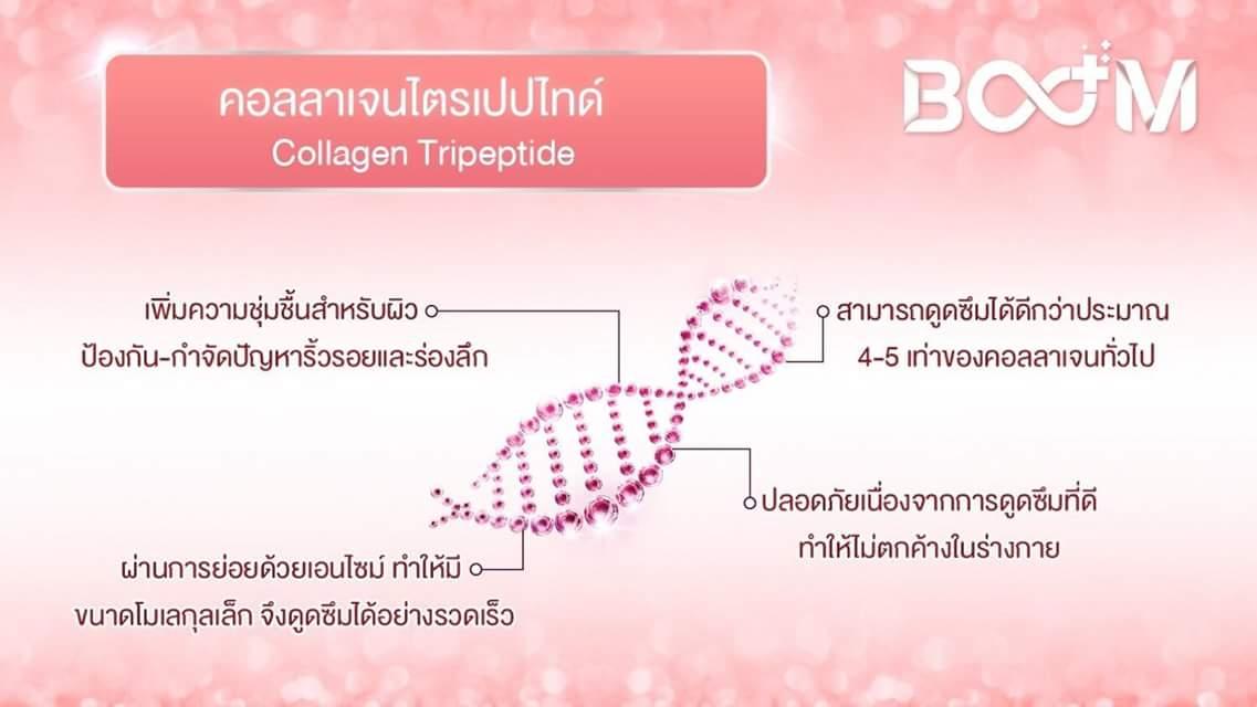 คอลลาเจนไตรเปปไทด์ (Collagen Tripeptide) ส่วนประกอบ boom